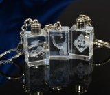 Cristal Keychain del cuadrado del Keyring del regalo de la promoción