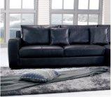 2016 venda quente L sofá do couro do preto da forma para o uso da casa (SF010)