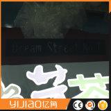 金属フレームの前部Litの店の照明印