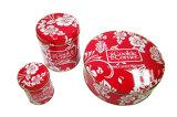 De Doos van het Tin van het Voedsel van koekjes met de Kunstwerken van de Douane van de Druk