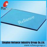 Verre réfléchissant bleu foncé de 6 mm avec certificat ISO / CE