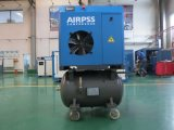 Compressor combinado 5.5kw-15kw do parafuso de Airpss com tanque do ar
