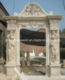 Marble antico Door per Home Decoration