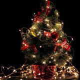 Zeichenkette-Licht des Feiertags-u. Weihnachtsdekoration-kupfernen Draht-LED