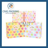 La aduana imprimió la bolsa de papel del regalo de las compras de la hoja con la impresión de la insignia (DM-GPBB-092)