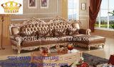 Mobilia L moderna sofà di legno del salone del cuoio di figura
