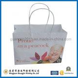 新しいデザインペーパーによってねじられるハンドルが付いている多彩なサラシクラフト紙のショッピング・バッグ