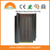 azulejo de azotea solar agitado negro 8W