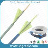 Câble fibre optique blindé d'intérieur de FTTH (AMB-xC)