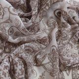 Écharpe des femmes de voile de polyester d'écharpe d'impression d'anarcadier de mode la longue, châle de couleur de Brown (PP038BL)