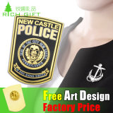 Chapeamento Gold Police Badge com Imitation Enamel