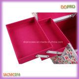 Чемоданы состава большой ткани PVC яркия блеска тома косметические (SACMC018)