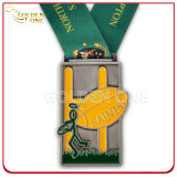 Morire Casting Zinc Alloy Sport Medal con Printed Lanyard