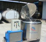 Réservoir de refroidissement du lait d'acier inoxydable avec à couvercle serti