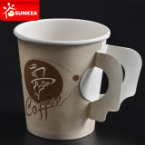 4oz all'ingrosso 7oz 9oz Coffee Paper Cup con Handle