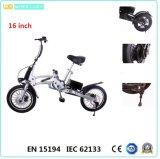 CE 16-Inch одна секунда складывая электрические Bike/велосипед