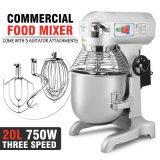 20 velocidad eléctrica del mezclador de pasta del alimento del cuarto de galón 1HP 750W 3