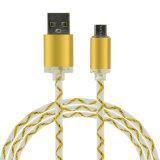 Зарядный кабель USB вспомогательного оборудования мобильного телефона с светом СИД для мобильных устройств