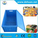 Caja de almacenamiento de plástico plegable de plástico, caja de contenedores de plástico de almacenamiento
