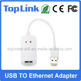 Interruptor prendido do USB 2.0 do cartão do LAN ao adaptador do Ethernet 10/100Mbps