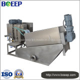 Máquina ruidosa inferior de la prensa de filtro de tornillo del tratamiento de aguas