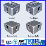 アルミニウム精密鋳造の容器のコーナーの鋳造付属品はダイカストの予備品を