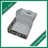 Caixa ondulada impressa colorida com punho