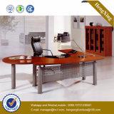 Стол офиса приема панели скромности серебра структуры металла (NS-NW132)