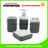 Керамический домашний комплект ванной комнаты тарелки мыла Tumbler распределителя лосьона