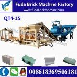 インドQt4-15の油圧砂のペーバーの煉瓦機械か具体的な空のブロック機械