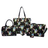 Мешок Sy7817 посыльного женщин сумки 6 PCS/Set PU женщин цветка кожаный