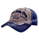 Applique bordado de la manera del algodón del ocio Deportes / gorra de béisbol
