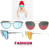 Gafas de sol de encargo al por mayor de las mujeres de la manera de las gafas de sol de la insignia