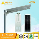 Luz de rua solar de trabalho do diodo emissor de luz de Settable 110lm/W 40W da modalidade do IEC BV de RoHS do Ce