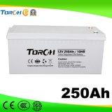 12V Qualität 250ah VRLA Tief-Schleife Sonnenenergie-Batterie