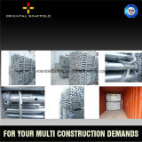 Apoyo resistente del acero del muro de cemento de la construcción