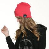 Gorrita tejida sin hilos del auricular de Bluetooth de la alta calidad, venta al por mayor del sombrero del auricular del invierno de Bluetooth
