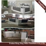 (HX-4402)粉のコーティングのガラス上の反対表の現代オフィス用家具