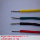 Fio resistente de alta temperatura revestido isolado do Acrylate trançado de nylon da borracha de silicone UL3410