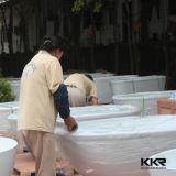 Bath en pierre extérieur solide en gros de résine de Kkr
