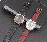 Relógio dos homens brilhantes de quartzo de Samrt com a cinta de couro genuína Fs568
