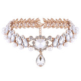 Перлы Rhinestone диаманта способа ювелирные изделия ожерелья чокеровщика роскошной привесные