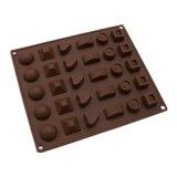 Molde material del silicón de la categoría alimenticia del certificado del FDA, diverso molde Shaped de /Chocolate del molde del pudín del silicón 30PCS