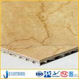 Painéis de alumínio de mármore do favo de mel para materiais de construção