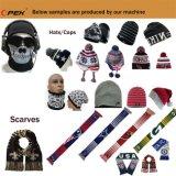 十分にComputeriziedの多色刷りのジャカード帽子およびスカーフの編む機械