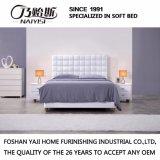 Form-doppeltes Bett-Entwurfs-modernes Schlafzimmer-Möbel-Leder-Bett (G7011)