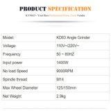 125/150mm 전력 공구 각 분쇄기 (kd63)
