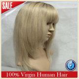 女性の毛のかつらの前部か完全なレースのかつら100%の人間の毛髪