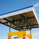 Stahlbinder-Rahmen-Tankstelle-Gebäude
