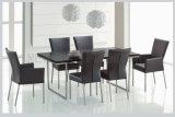 Tabela de jantar de vidro telescópica oval do mobiliário Home moderno (NK-DTB055)